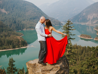 Neil + Joie | Diablo Lake Engagement - Diablo Lake, WA