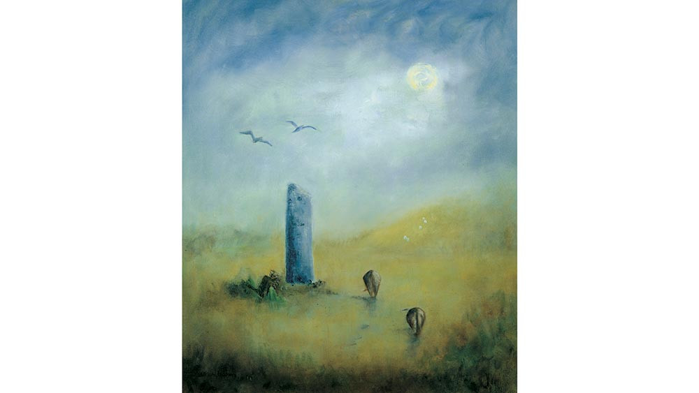 Standing Stone, Cattle and Crows