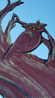 Haunts in the Town of Eagle Owl in Tree
