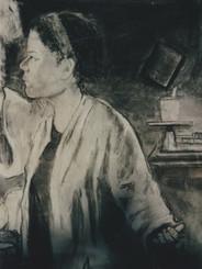 Self portrait charcoal