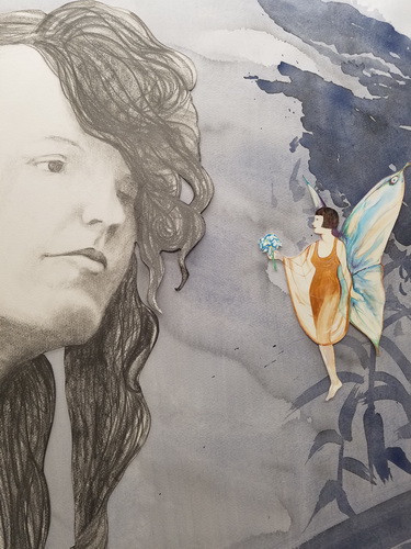 Cottingley Fairies Elsie and the Fairy