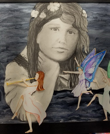 Cottingley Fairies Frances and the Fairies graphite and watercolor