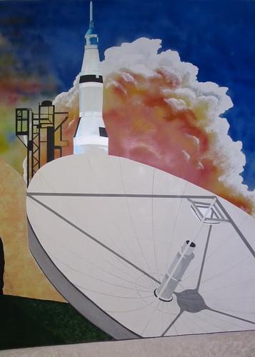 Looking Forward Looking Up detail  radar dish n rocket