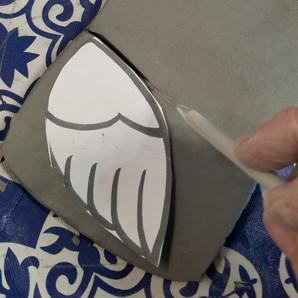 hand building the turkey