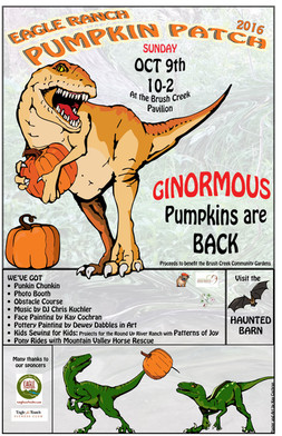 Pumpkin Patch Dino poster
