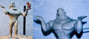 Disney's Hercules Disneyland display  Zeus