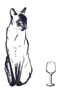 fine wine feline