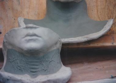 Universal's Halloween Horror Nights sculpt  slit throat set up
