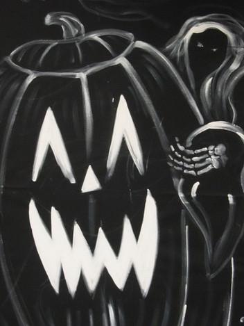 Haunts in LA N. Weddinton pumpkin.