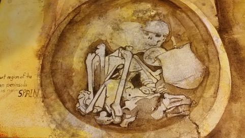 Burials in Argar acrylic