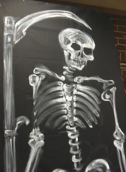 Haunts in LA N. Weddinton skeleton