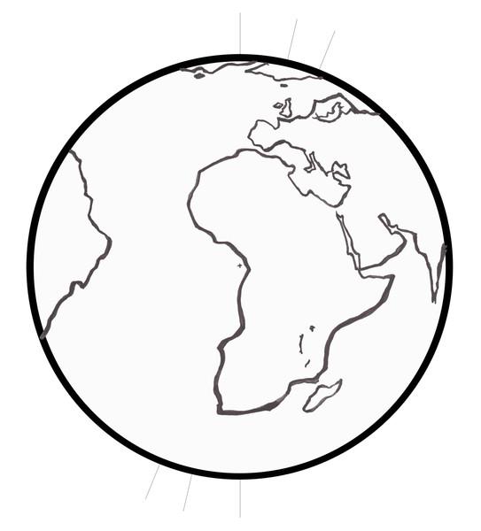 Earth on axis