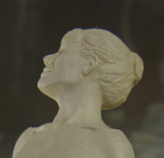 nude with cane detail oil clay