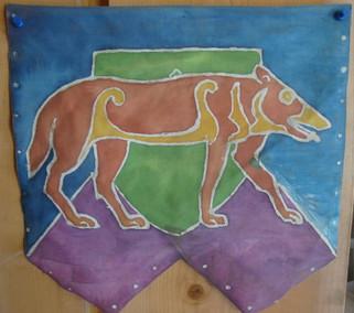 Celtic Wolf  batik