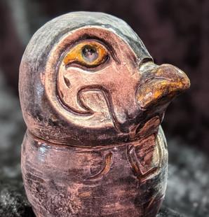 Qebehsenuef canopic jar falcon