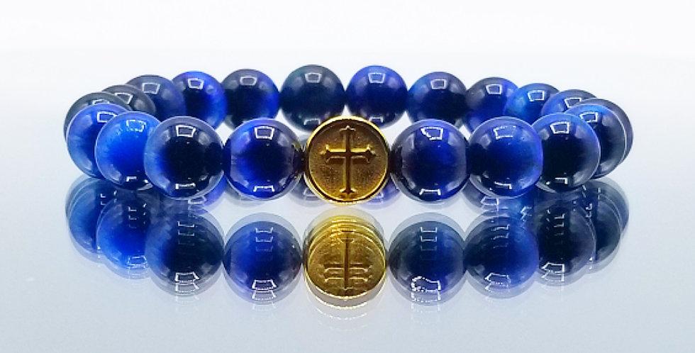 Blue Tigereye Cross