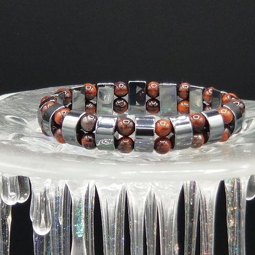 Red Tigereye &Hematite Bracelet