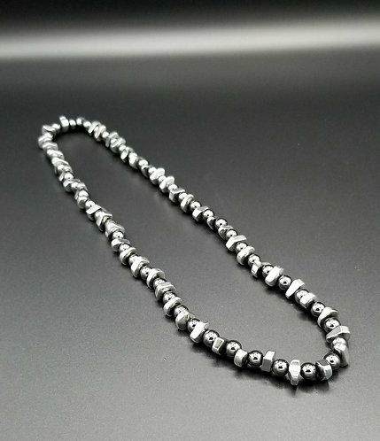 "24"" Hematite Necklace"