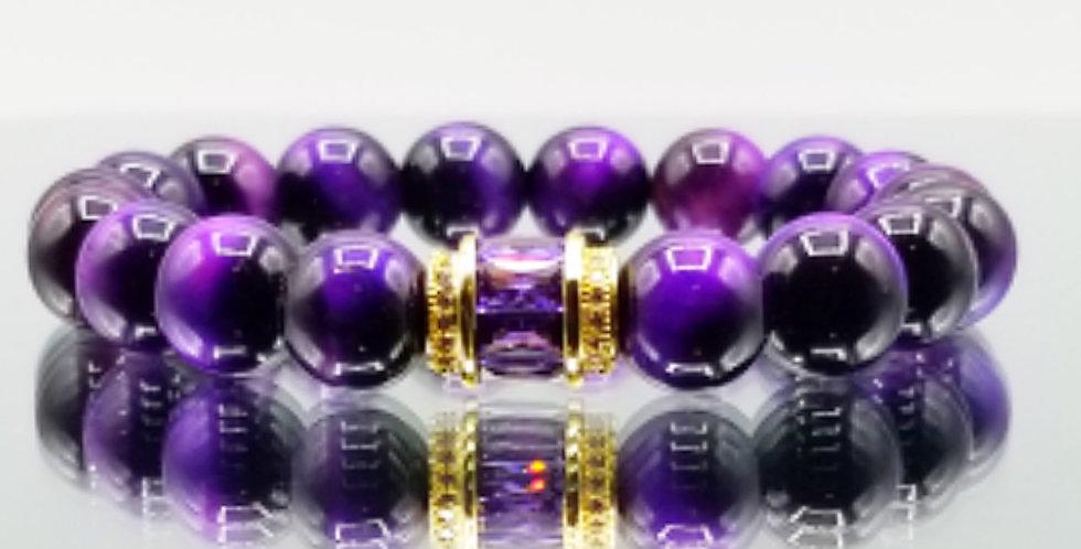 Dad - Purple Tigereye w/ Amethyst CZ