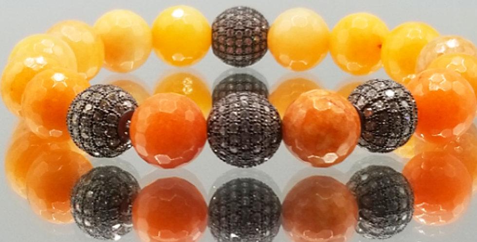 Orange Faceted Agate