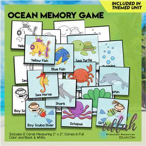 Ocean Themed Memory Game