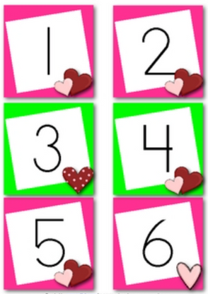 February Calendar Numbers (Valentine's Day and Groundhog Day)