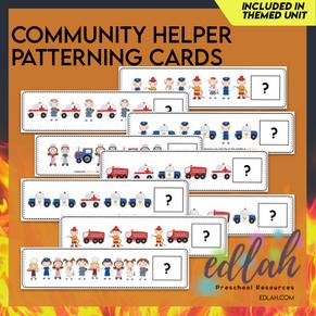 Community Helper Patterning Cards - Full Color Version