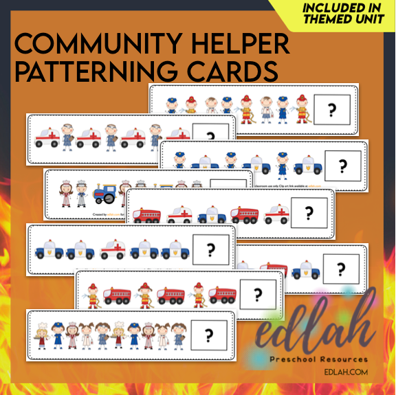 Community Helper Patterning Cards - Full Color Version