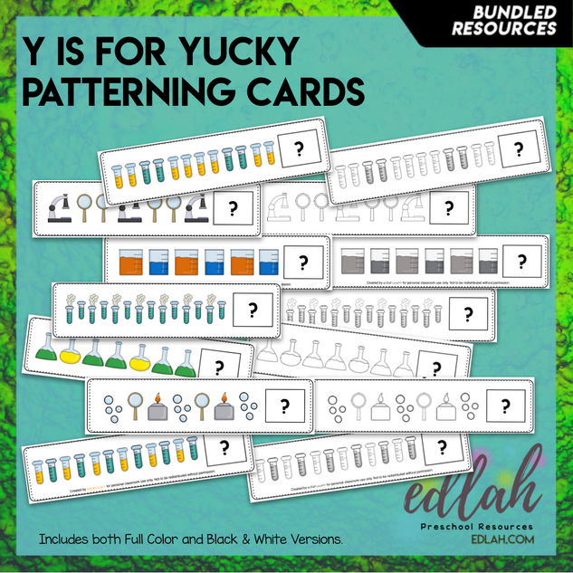 Science Tools Patterning Cards - BUNDLE