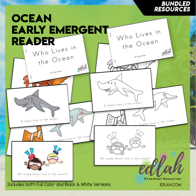 Ocean Early Emergent Reader - BUNDLE