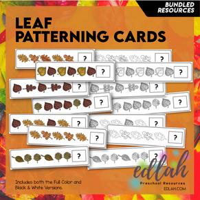 Leaf Patterning Cards - BUNDLE