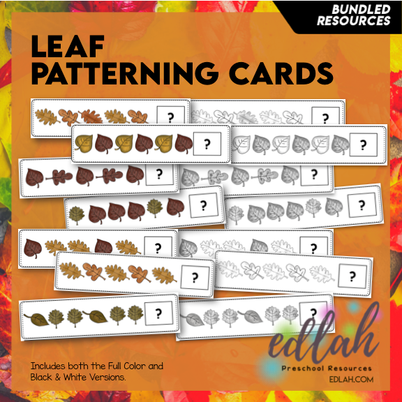 Leaf Patterning Cards - BUNDLE