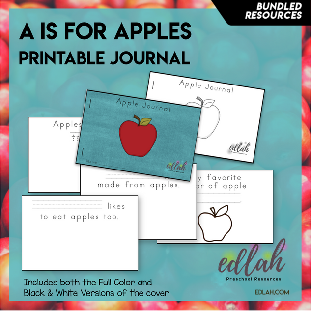 Apple Printable Journal