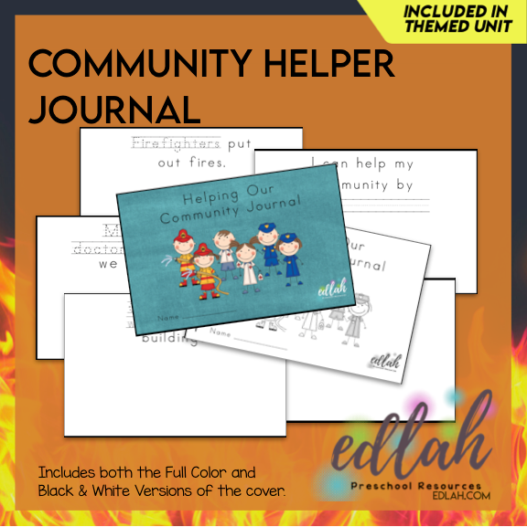 Community Helpers Printable Journal