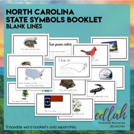 North Carolina State Symbols Booklet-Blank Lines