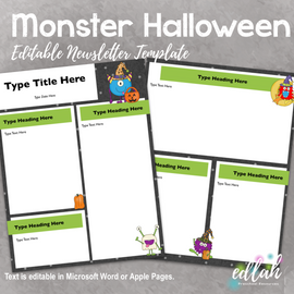 Monster Halloween Newsletter for WORD or PAGES_Generation 2