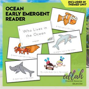 Ocean Early Emergent Reader - Full Color Version