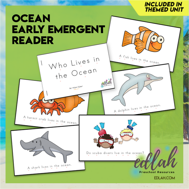 Ocean Early Emergent Reader - Full Color Version