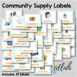 Community School Supply Labels