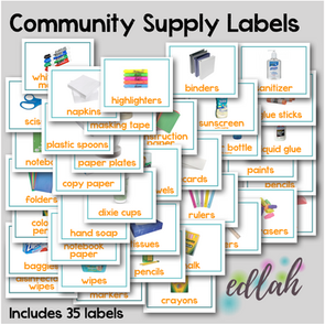Community School Supply Labels