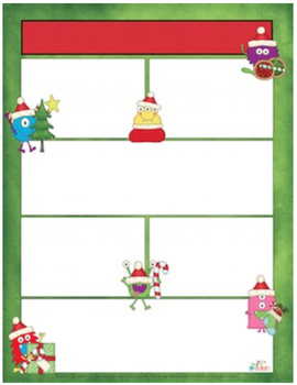 Monster Christmas Newsletter for Word_Generation 1