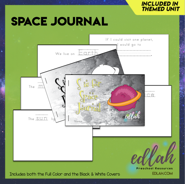 Space Printable Journal