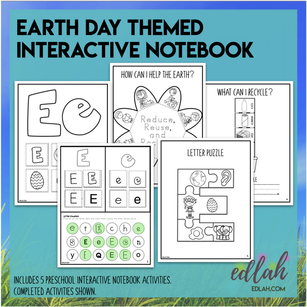 E is for Earth Day Themed Interactive Notebook
