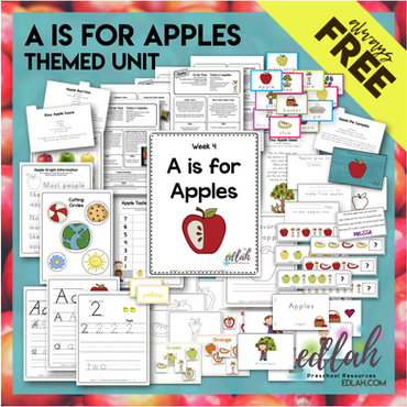 A is for Apple Themed Unit-Preschool Lesson Plans