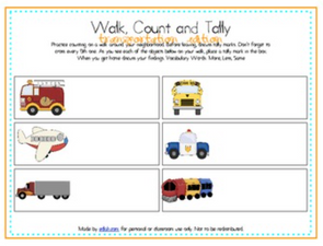 Walk, Count and Tally-Transportation Edition