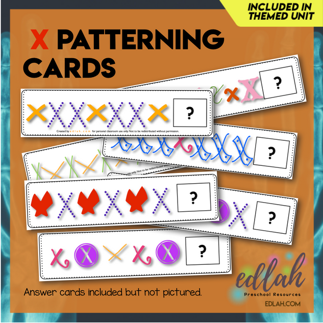 X Marks the Spot Patterning Cards - Full Color Version