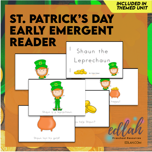 St. Patrick's Day Early Emergent Reader - Full Color Version