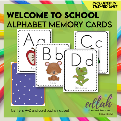 Alphabet Memory Cards - Full Color Version