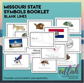 Missouri State Symbols Booklet - Blank Lines