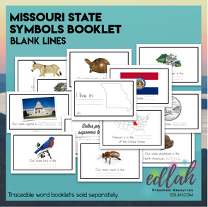 Missouri State Symbols Booklet - Blank Lines